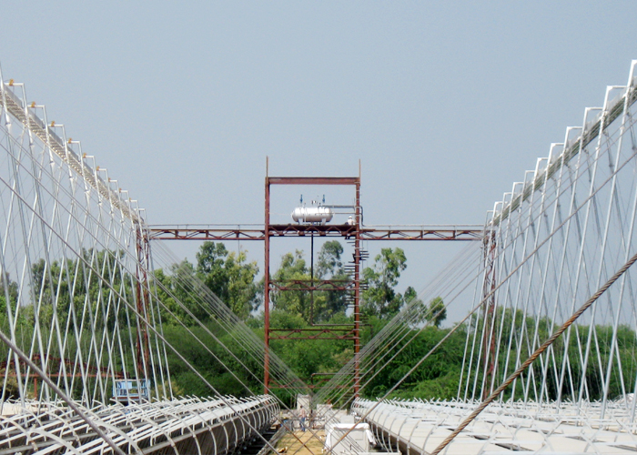 Generation of 2 MW thermal at Delhi for MNRE in July 2012